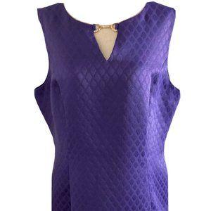 Black Label by Evan Picone Size 14 Purple Dress